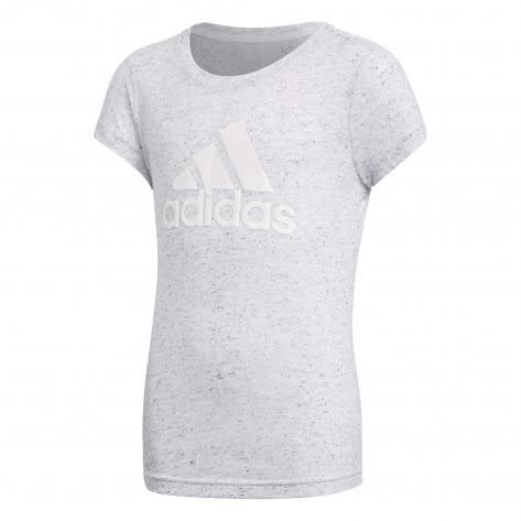 adidas Mädchen T-Shirt Winner Tee white black Größe 116,128,140,152,164,170