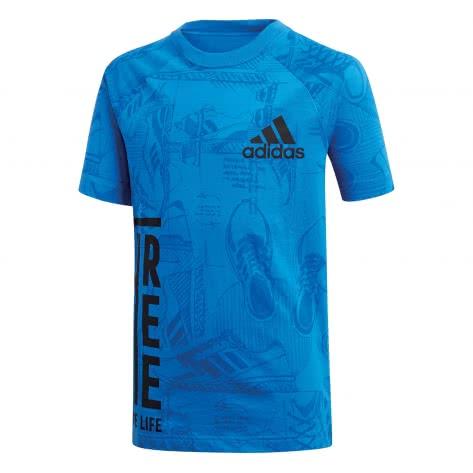 adidas Jungen T-Shirt Print Tee blue collegiate navy Größe 116,128,140,152,176