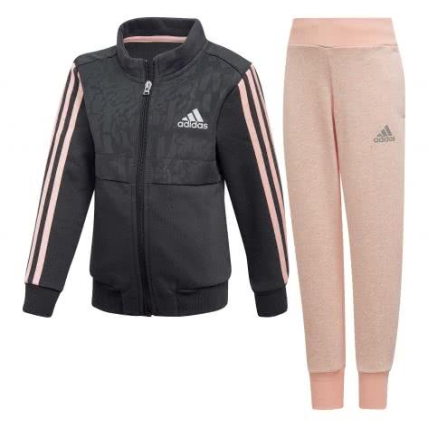 adidas Mädchen Trainingsanzug Cotton Track Suit DJ1458 92 carbon/haze  coral/reflective silver | 92 | cortexpower.de