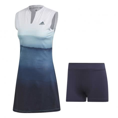 adidas Damen Tenniskleid Parley Dress DP0267 XS white/easy blue | XS