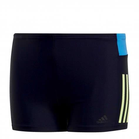 adidas Kinder Badehose fitness colorblock swim boxer legend ink hi res yellow Größe 140,152,164