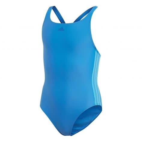 adidas Mädchen Badeanzug athly v 3 stripes true blue shock cyan Größe 128,140,152