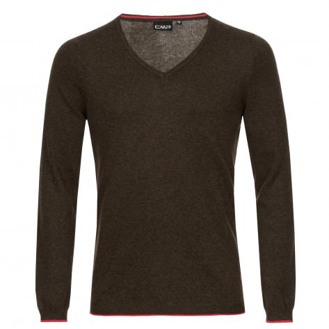 CMP Herren Pullover Knitted Pullover 7H27452-621P 54 Carbone Mel.-Ketchup | 54