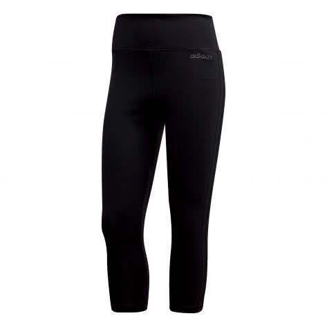 adidas Damen 3/4 Tight D2M HR 3/4 3 STRIPES DU2043 XS black/white | XS