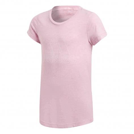 adidas Mädchen T-Shirt ID Winner Tee true pink grey six white Größe 110,116,128,140,152,164,170