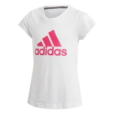 adidas Mädchen T-Shirt Must Have BOS white semi solar pink Größe 116,128,140,170