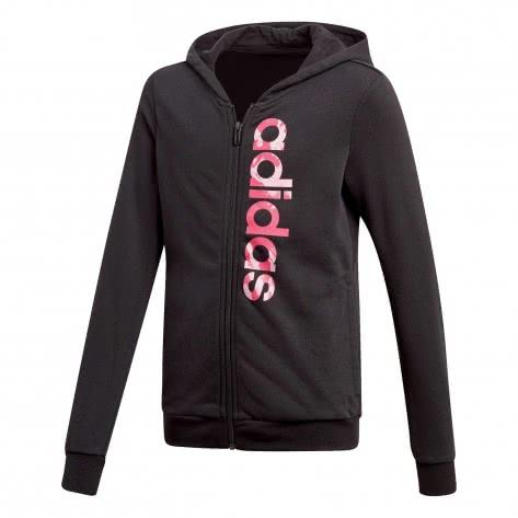 adidas Mädchen Sweatjacke Essentials Linear AOP Hoodie black true pink real magenta Größe 110,116,128,140,152,164,170