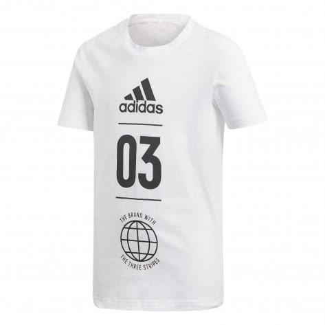 adidas Jungen T-Shirt Sport ID white black Größe 110,116,128,140,152,164,176