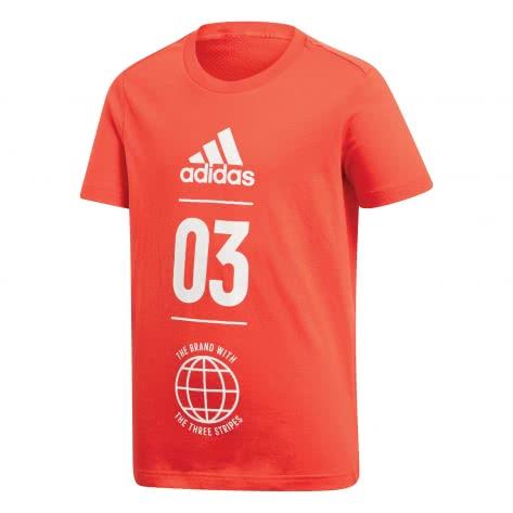 adidas Jungen T-Shirt Sport ID active red white Größe 116,128,140,152,164,176