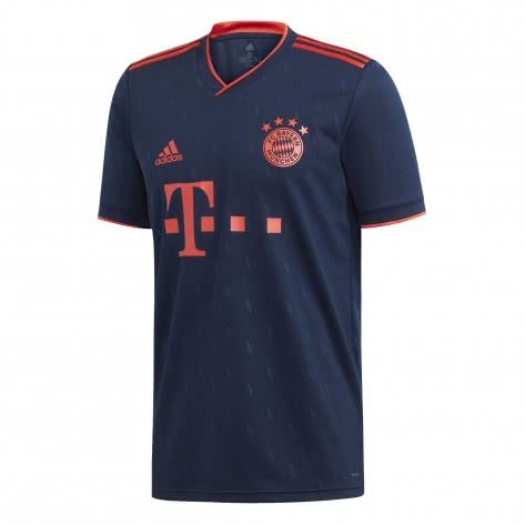 adidas Herren FC Bayern München 3rd Trikot 2019/20 DW7411 XS collegiate navy/bright red | XS