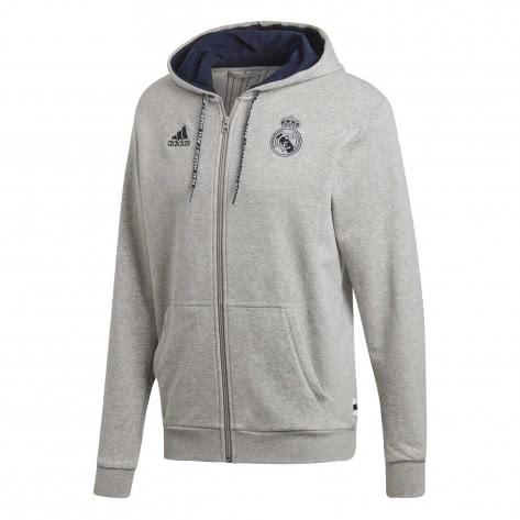 adidas Herren Real Madrid Full Zip Hoodie DX8696 XS MGREYH/NINDIG | XS