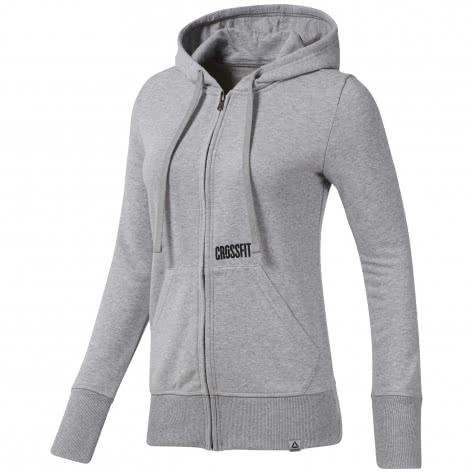 Reebok CrossFit Damen Kapuzenjacke RC CF Repeat Full Zip DY8377 XL medium grey heather | XL