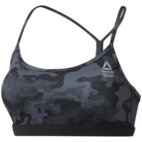 Reebok CrossFit Damen Sport BH RC Skinny Strap Bra - AOP DY8414 XL black | XL