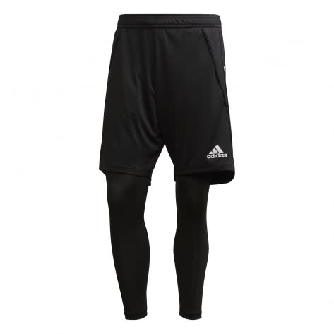 adidas Herren 2in1 Shorts Condivo 20 EA2490 XS black/white | XS