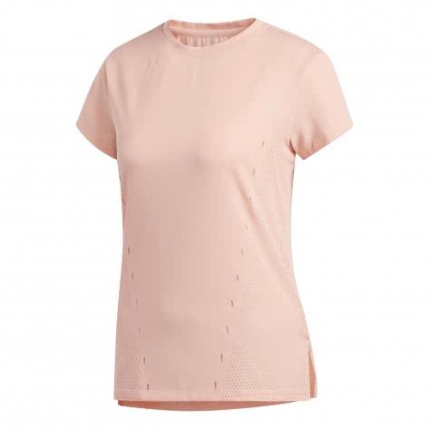 adidas Damen Trainingsshirt Engineered Knit Tee EA3342 S glow pink | S