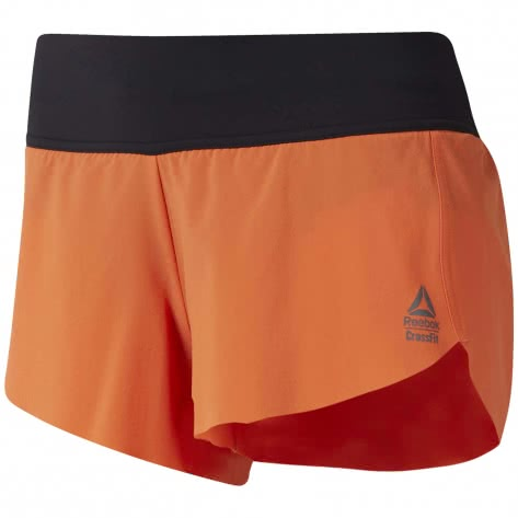 Reebok CrossFit Damen Short RC KNW Short Print - Authentic EC1448 XL fiery orange | XL