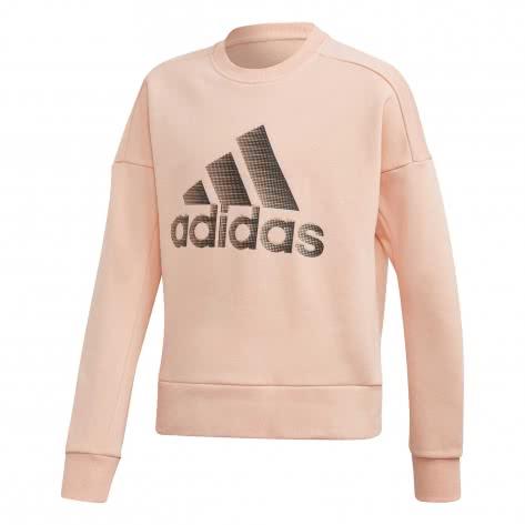 adidas Mädchen Sweatshirt ID Glam Crew ED4653 116 glow pink | 116