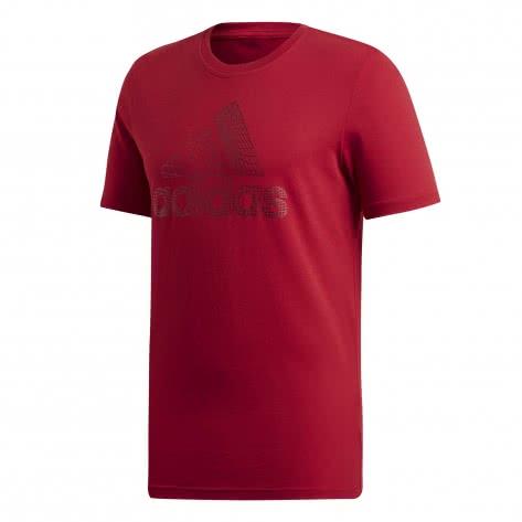 adidas Must Haves Badge of Sport T Shirt Herren schwarz weiß