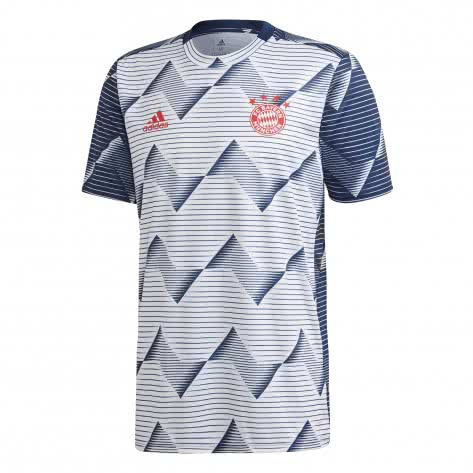 adidas Herren FC Bayern München Pre-Match Home Trikot EJ3245 M white/collegiate navy | M