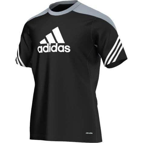 adidas Sereno 14 Training Trikot black silver white Größe 128