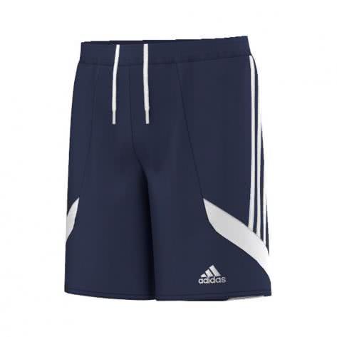 adidas Kinder Short Nova 14 dark blue white white Größe 116,128,140,164