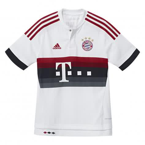 adidas Kinder FC Bayern München Away Trikot 2015/16 AH4793 176 WHITE/POWRED/NTNAVY/B | 176