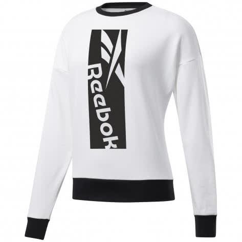 Reebok Damen Pullover WOR Big Logo Coverup FJ2753 M White   M