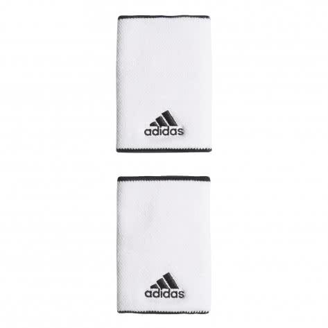 adidas Schweißband Tennis Wristband Large FK0915 White/Black/Black   One size