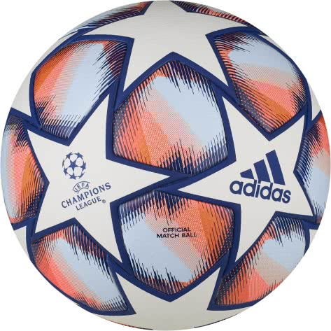 adidas Fussball UCL Finale 20 Pro FS0258 5 White/Team Royal Blue/Signal Coral/Sky Tint | 5