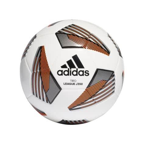 adidas Fussball Tiro League Junior 350 FS0372 5 White/Black/Silver Met./Team Solar Orange | 5