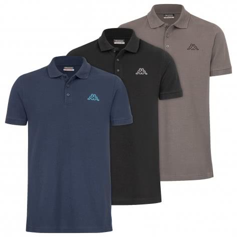 Kappa Herren Polo VELEOT 3 Polo Shirt 3er-Pack s/s 707408