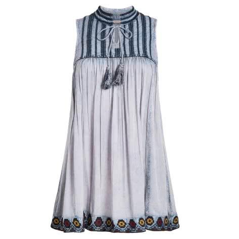 Khujo Damen Kleid Laika 1035DR191-844 L Blue-Uw | L