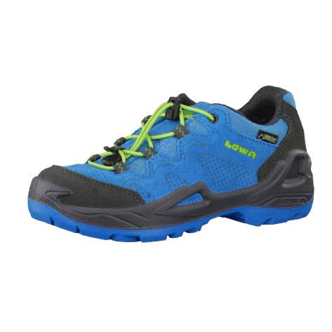 Lowa Jungen Outdoorschuhe Diego GTX Low 340154-6003 33 blue lime | 33