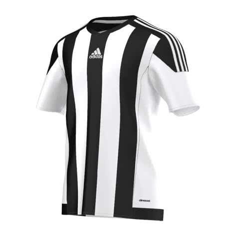 adidas Kinder Trikot Striped 15 white black Größe 116,140