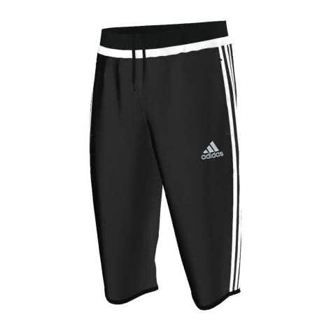 adidas Tiro 15 3 4 Hose black white black Größe 128,XS