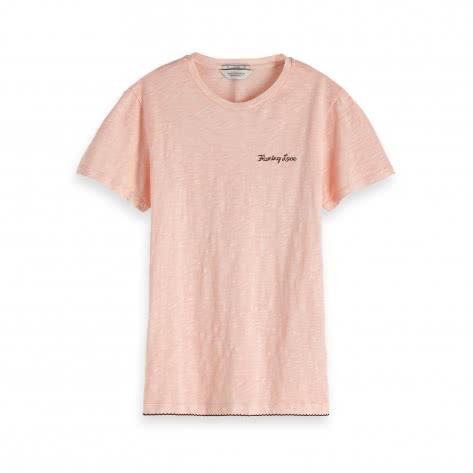 Maison Scotch Damen T-Shirt Basic Tee 147579