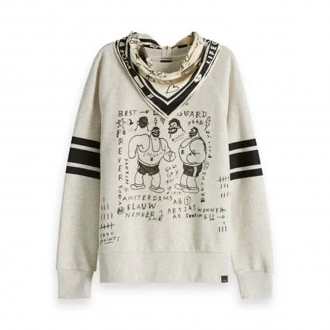 Maison Scotch Damen Sweatshirt Brutus  inkl. Bandana  150681