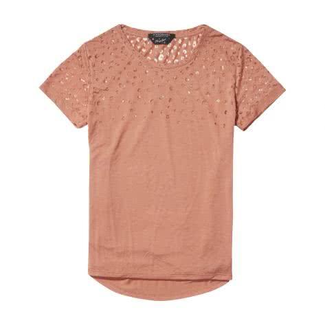 Maison Scotch Damen T-Shirt Short Sleeve Burn-out Tee 140881-1549 M