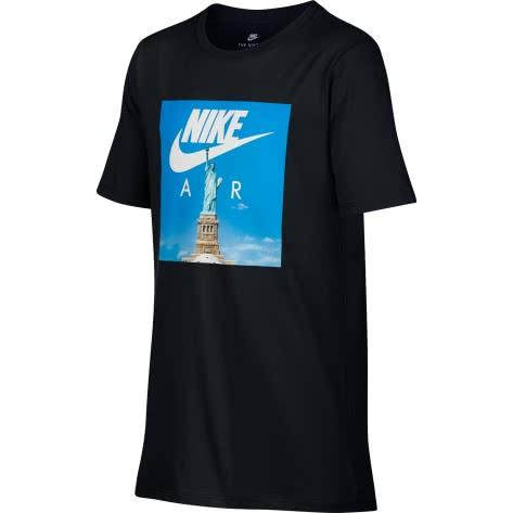 Nike Jungen T-Shirt Air Liberty Tee 894301 Black Größe 116 128,128 140,140 152,152 158,158 170