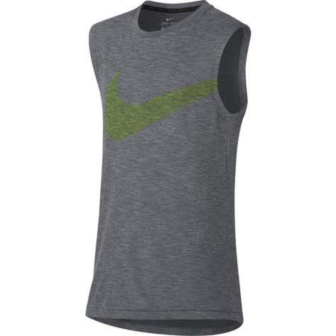 Nike Jungen Tanktop Breathe Training Top 857757 Atmosphere Grey White Größe 122 128,128 137,137 147,147 158,158 170