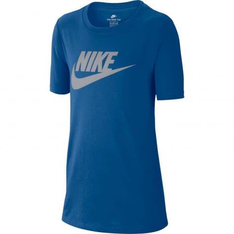 Nike Kinder T-Shirt Cotton Crew Futura Icon TD Tee 739938 GYM BLUE WOLF GREY Größe 122 128,128 137,137 147