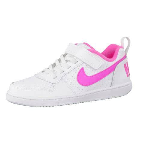 Nike Mädchen Sneaker Court Borough Low (PSV) 870028 White Pink Blast Größe 29.5,30