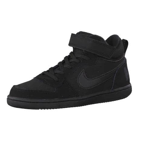 Nike Jungen Sneaker Court Borough Mid (PSV) 870026 Black Black Größe 31.5,32,33,33.5