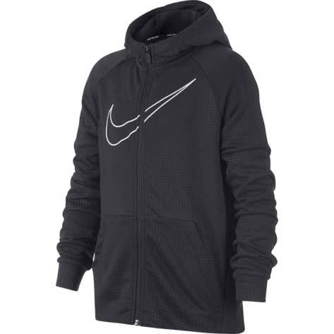 Nike Jungen Trainingsjacke Dry Hoodie FZ EMB LEG 939853 Anthracite White Größe 122 128,128 137,137 147