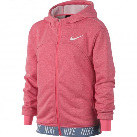 Nike Mädchen Trainingsjacke Dry Hoodie FZ Studio 939533 Pink Nebula Htr Pink Nebula White Größe 137 147,147 158