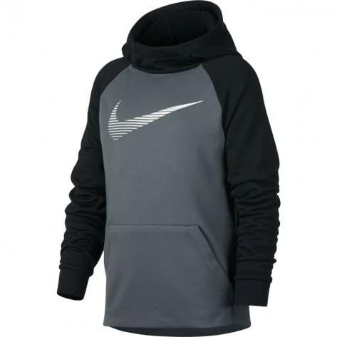 Nike Jungen Kapuzenpullover Dry Hoodie PO Fleece Cool Grey Black White Größe 116 128,128 140,140 152,152 158,158 170
