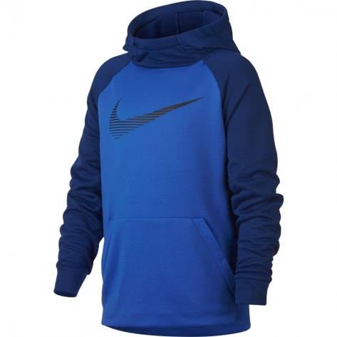 Nike Jungen Kapuzenpullover Dry Hoodie PO Fleece Lt Racer Blue Deep Royal Blue Black Größe 140 152