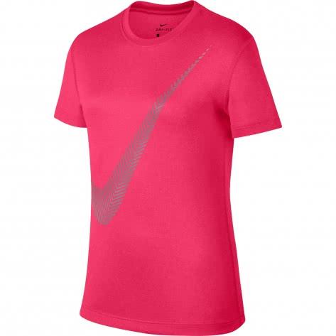 Nike Mädchen Trainingsshirt Dry Legend Tee 3D Swoosh 894291 Racer Pink Cool Grey Größe 116 128,128 140,152 158,158 170