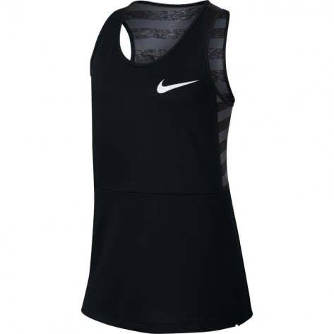 Nike Mädchen Tanktop Dry Tank MDS 890291 Black Black White Größe 122 128,128 137,137 146,146 156,156 166