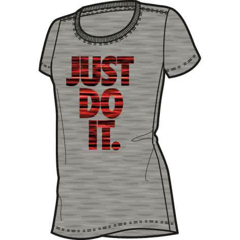Nike Mädchen Trainingsshirt Dry Tee SS Monolith JDI 837966 Dk Grey Heather Bright Melon Größe 140 152